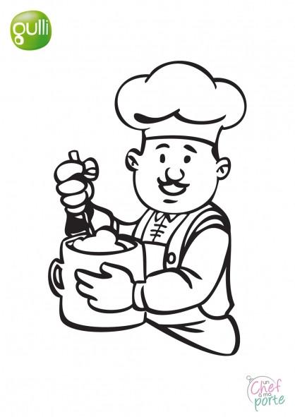 coloriage dessin de chef cuisinier en ligne dessin gratuit  u00e0 imprimer