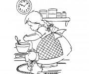 Coloriage et dessins gratuit Fille cuisinière à imprimer