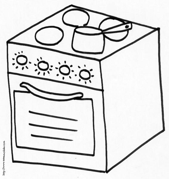 Coloriage et dessins gratuits Gaz de cuisine à imprimer
