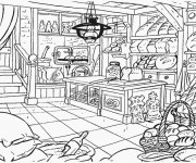 Coloriage et dessins gratuit la Boulangerie à imprimer