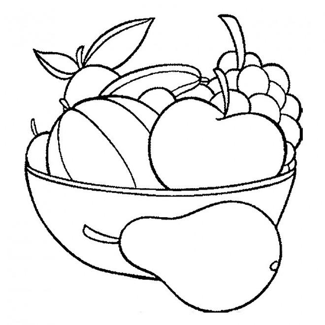 Coloriage et dessins gratuits Les fruits dessin couleur à imprimer