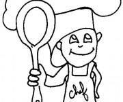 Coloriage et dessins gratuit Petit Cuisinier à imprimer