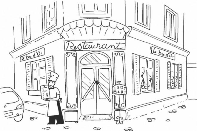 Coloriage et dessins gratuits Restaurant et cuisinier à imprimer