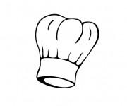 Coloriage Toque de chef pâtissier