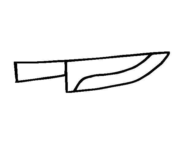 Coloriage et dessins gratuits Un couteau simple à imprimer