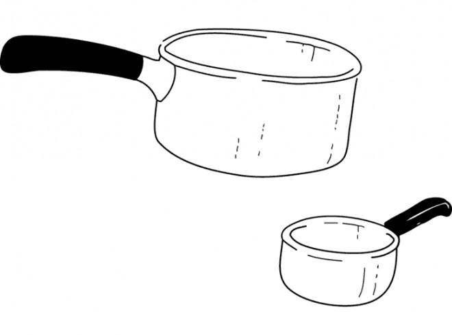 Coloriage une casserole dessin gratuit imprimer - Casserole dessin ...
