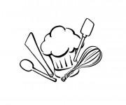 Coloriage et dessins gratuit Ustensiles de cuisine à imprimer