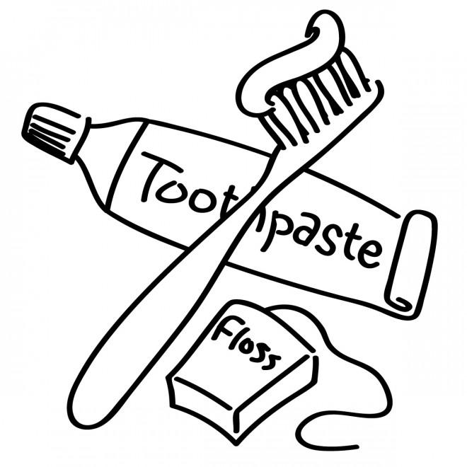 Coloriage et dessins gratuits Brosse et dentifrice à imprimer