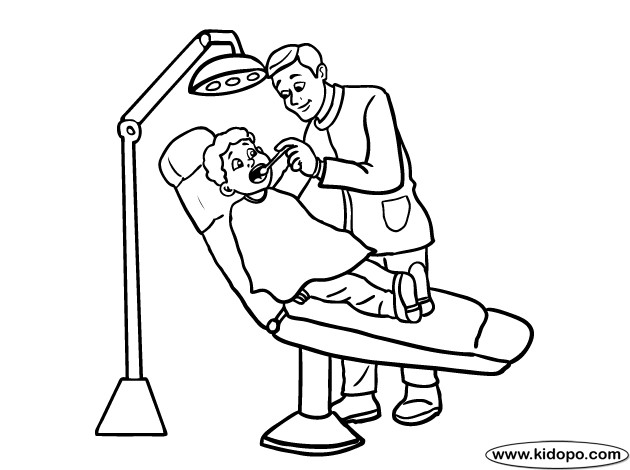 Coloriage et dessins gratuits Dentiste à imprimer
