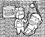 Coloriage Dentiste dessin drôle