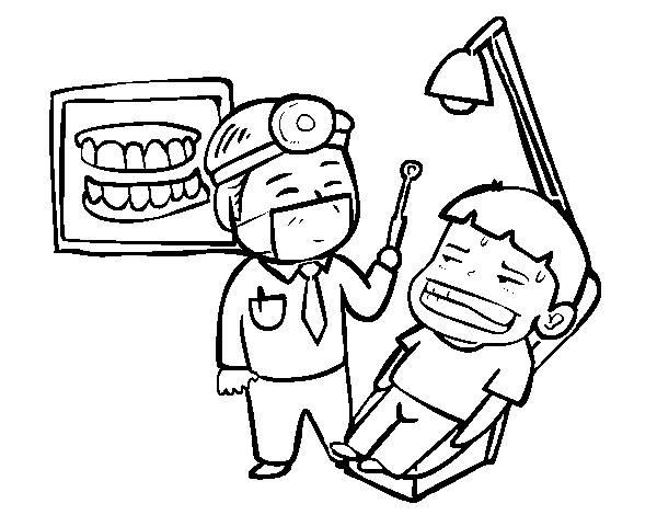 Coloriage et dessins gratuits Dentiste dessin drôle à imprimer