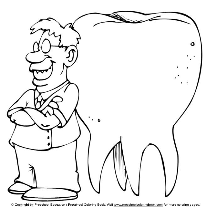 Coloriage et dessins gratuits Dentiste et dent dessin à imprimer