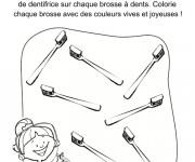 Coloriage Dentiste les brosses à dent