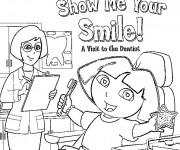 Coloriage et dessins gratuit Dora chez le dentiste à imprimer