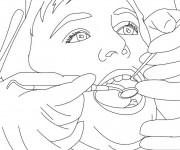 Coloriage et dessins gratuit La soie dentaire à imprimer
