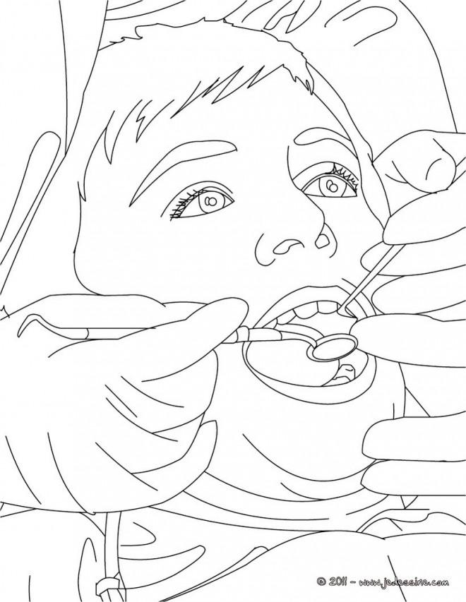 Coloriage et dessins gratuits La soie dentaire à imprimer