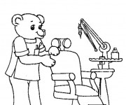 Coloriage Ours Dentiste