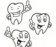 Coloriage et dessins gratuit Santé dentaire à imprimer