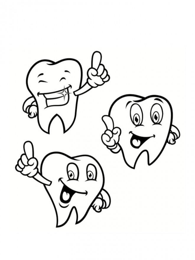 Coloriage et dessins gratuits Santé dentaire à imprimer