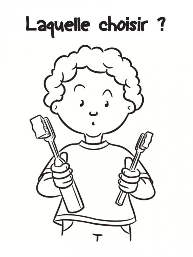 Coloriage Types Des Brosses à Dents Dessin Gratuit à Imprimer