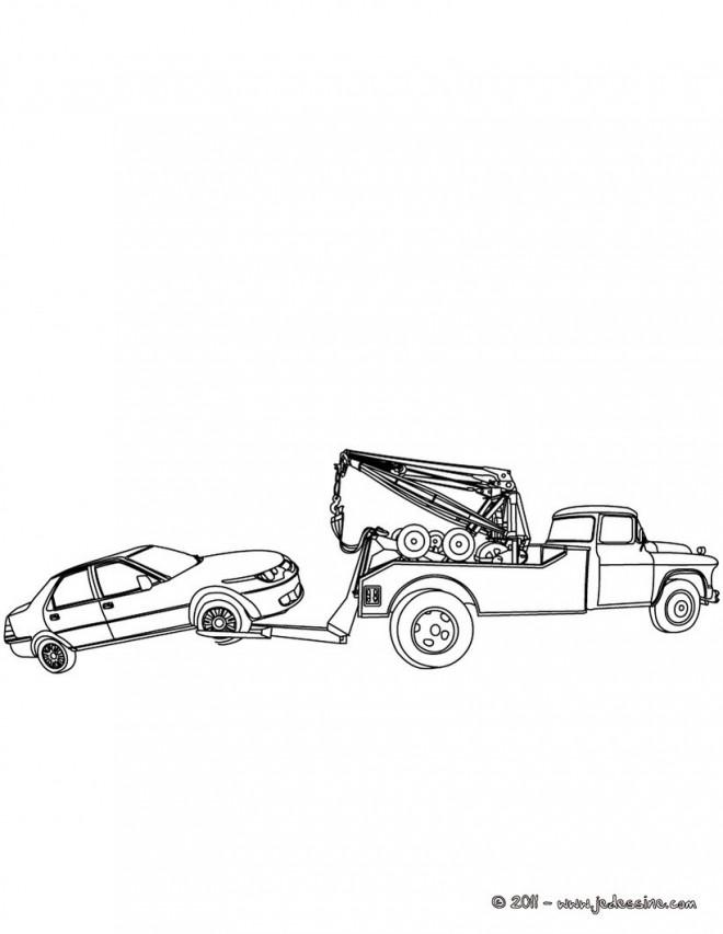 Coloriage d panneuse dessin gratuit imprimer - Dessin de camion a imprimer ...
