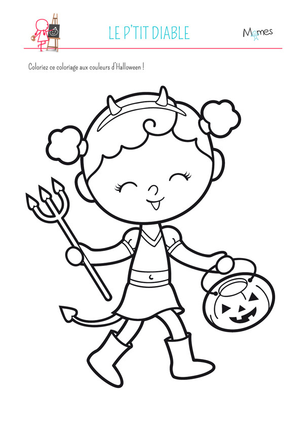 Coloriage dessin de halloween vampire fille dessin gratuit imprimer - Coloriage de diable ...