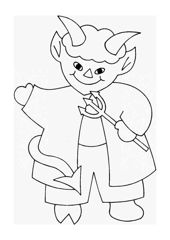Coloriage et dessins gratuits Dessin de petit diable à imprimer