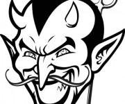 Coloriage et dessins gratuit Diable fait très peur à imprimer
