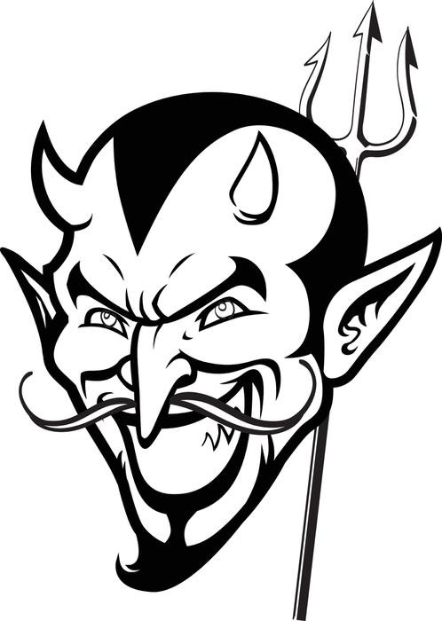 Coloriage diable fait tr s peur dessin gratuit imprimer - Dessiner un diable ...