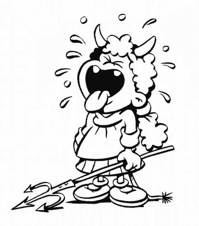 Coloriage et dessins gratuits Fille Diable en pleurant à imprimer