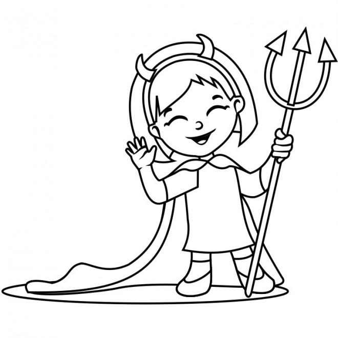 Coloriage Halloween vampire fille dessin gratuit à imprimer