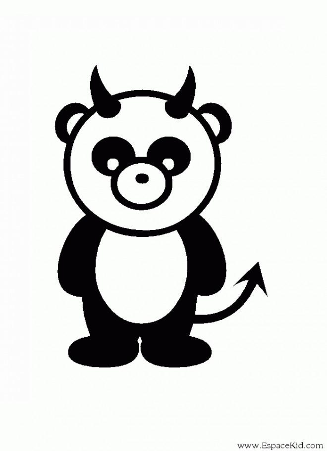 Coloriage panda diable dessin gratuit imprimer - Coloriage petit panda ...