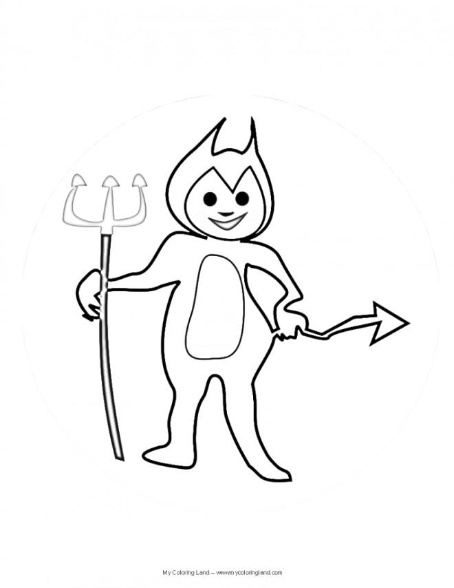 Coloriage Petit Diable Dessin Animé Dessin Gratuit à Imprimer
