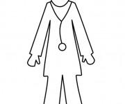 Coloriage dessin  Docteur 15