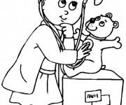 Coloriage dessin  Docteur 9