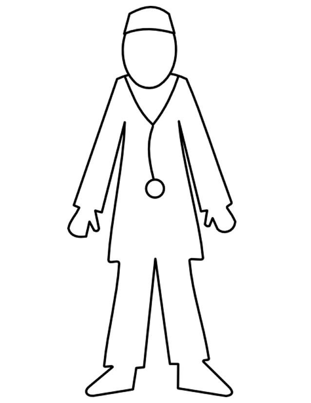 Coloriage docteur dessin simple dessin gratuit imprimer - Coloriage docteur ...