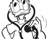Coloriage Docteur Donald Duck