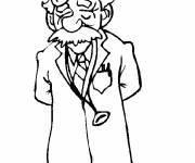 Coloriage Docteur drôle et simple