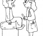 Coloriage Docteur en examination