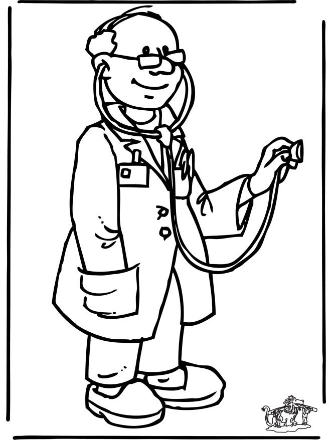 Coloriage et dessins gratuits Docteur entrain d'examiner à imprimer