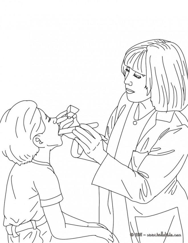 Coloriage et dessins gratuits Docteur et enfant à imprimer