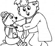 Coloriage dessin  Docteur et l'ours