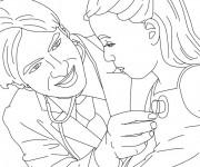 Coloriage et dessins gratuit Docteur et petite malade à imprimer