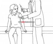 Coloriage Docteur et seringue