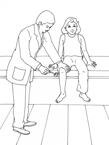 Coloriage docteur examine une fille dessin gratuit imprimer - Coloriage docteur ...