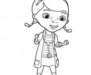 Coloriage Docteur la peluche dessin animé