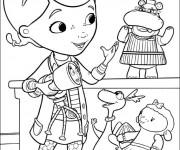 Coloriage dessin  Docteur la peluche et ses amis