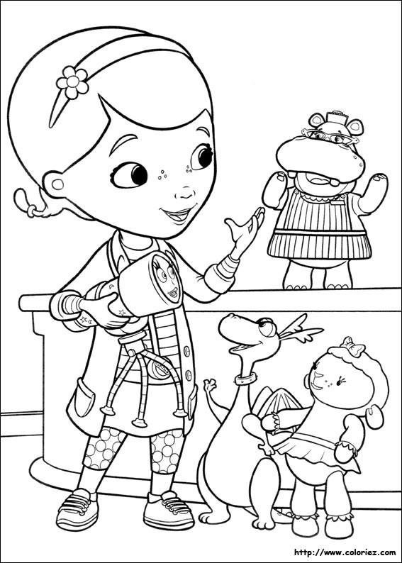 Coloriage et dessins gratuits Docteur la peluche et ses amis à imprimer