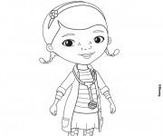 Coloriage dessin  Docteur la Peluche fille