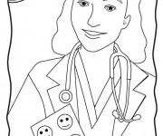 Coloriage Docteur souriante
